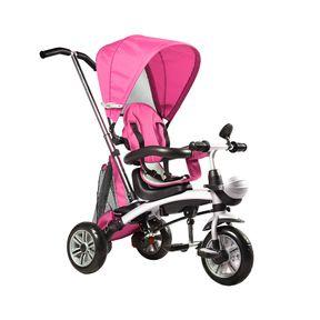 Triciclo-Multifuncional-com-Capota-Rosa-Bel