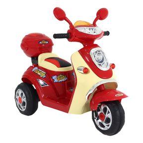 Moto-Lambreta-Eletrica-6v-Vermelha-Bel