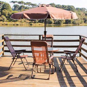 Conjunto-Para-Jardim-Monaco-com-4-Cadeiras-Mesa-e-Guarda-sol-Marrom-Bel