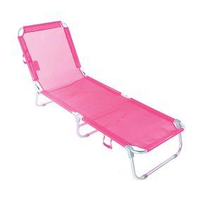 Cadeira-Espreguicadeira-Aluminio-com-Catraca-Em-Aco-Rosa-Bel