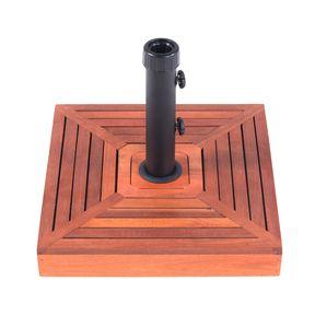 Base-Para-Ombrelone-Quadrada-Em-Concreto-com-Revestimento-de-Madeira-25-Kg-Bel
