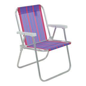 Cadeira-de-Praia-Alta-Em-Aluminio-Roxa-Bel