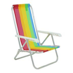 Cadeira-Reclinavel-4-Posicoes-Em-Aluminio-Branca-Listrada-Bel