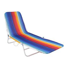 Cadeira-Espreguicadeira-Poliester-e-Pvc-Estampada-Multicolor-Bel-