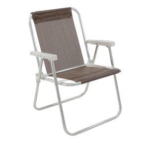 Cadeira-Alta-Lazy-Em-Aluminio-Marrom-Bel